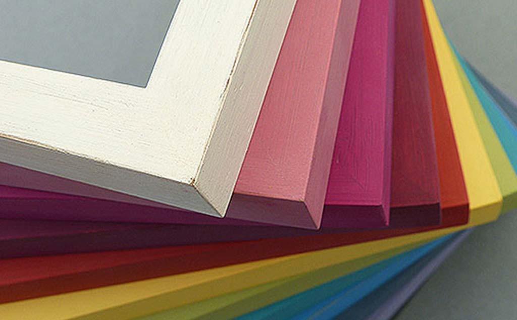 Farbenvielfalt bunte Bilderrahmen